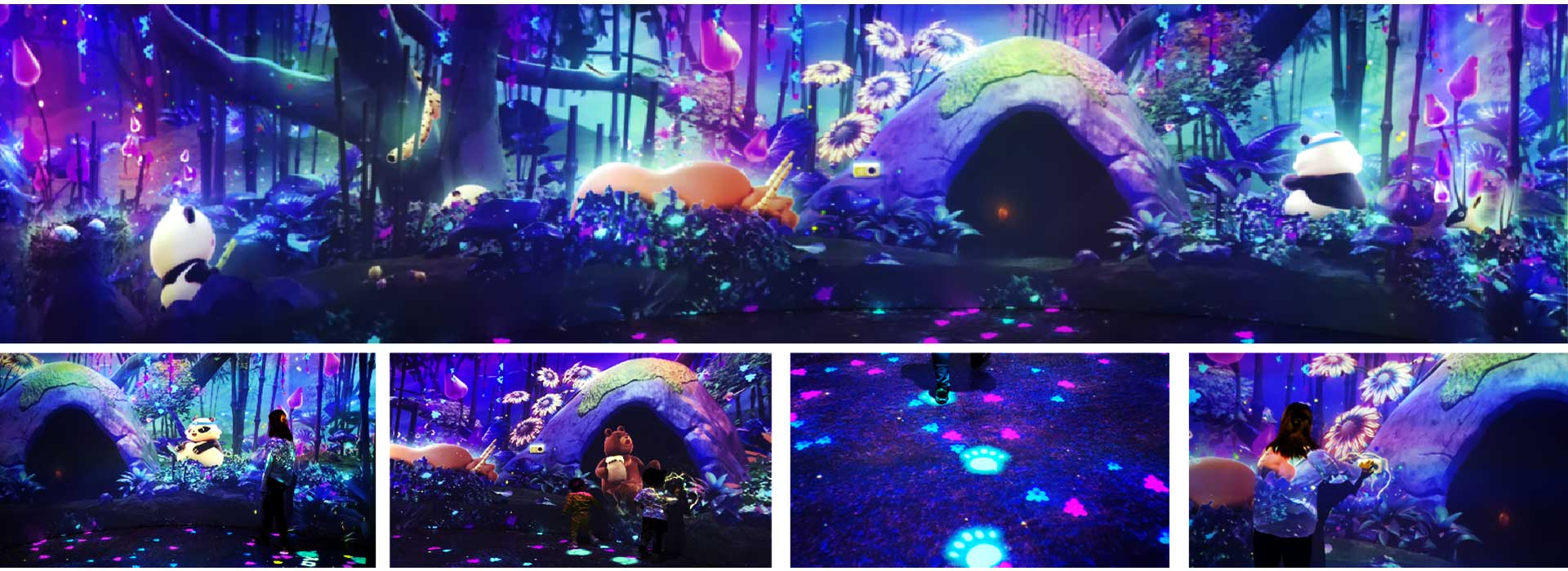 3D-Animation-PandaHouse-Forest-Collage