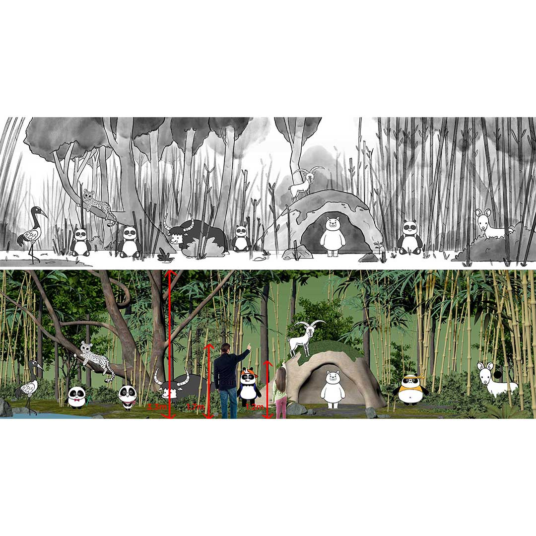 3D-Animation-PandaHouse-Forest